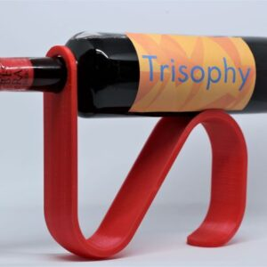 3D printed band bottle holder wine display